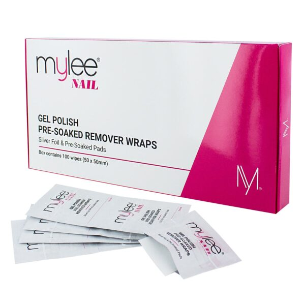 Mylee 100 Gel Polish Pre-Soaked Remover Wraps