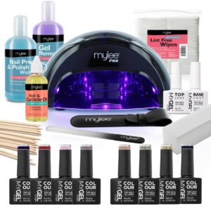 Mylee The Full Works Complete Gel Polish Kit (Black) - Autumn/Winter