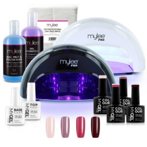 MYGEL Convex Curing Lamp Kit w/ Gel Nail Polish Essentials