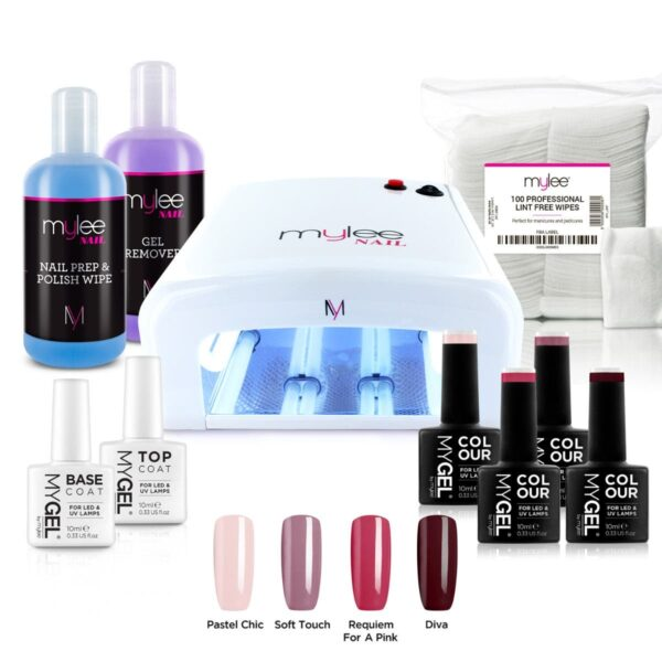 MYGEL UV Lamp Kit w/ Gel Nail Polish Essentials